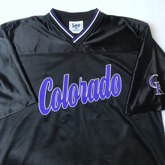 the latest 6ee1a 5669e Lee sport Colorado Rockies vintage pullover jersey
